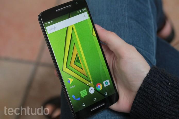Tela do Moto X Play (Foto: Lucas Mendes/TechTudo)
