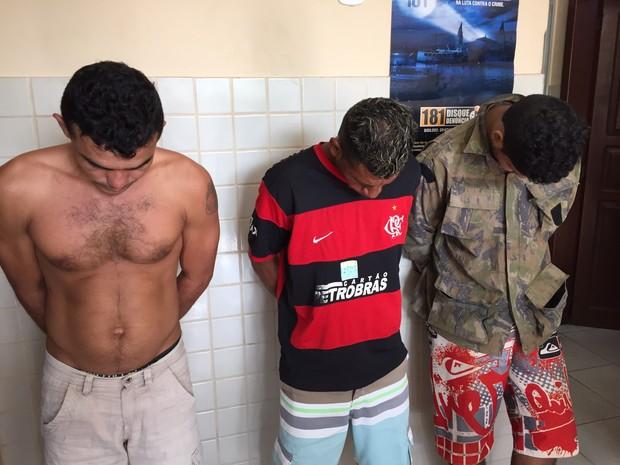 Homens foram autuados por roubo majorado (Foto: Divulgação/Polícia Civil de Óbidos)
