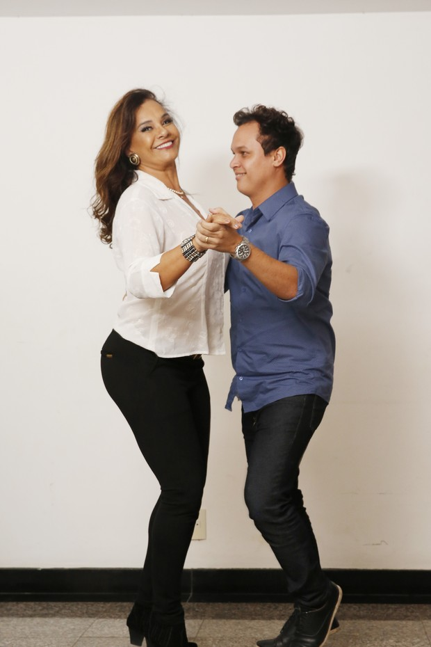 Solange Couto e Jamerson Andrade (Foto: Marcos Serra Lima/EGO)