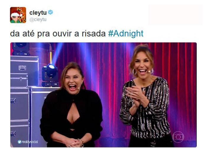 Público adorou participação de Fafá de Belém e Ivete no Adnight (Foto: Reprodução)