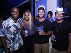 Thiago Martins, Roberta Rodrigues e Dudu Azevedo curtem festa no Rio
