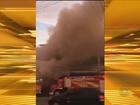 Incêndio destrói loja e bloqueia rua por cinco horas em Blumenau, SC