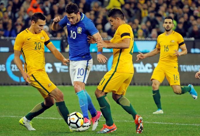 Giuliano Brasil x Austrália (Foto: Reuters)