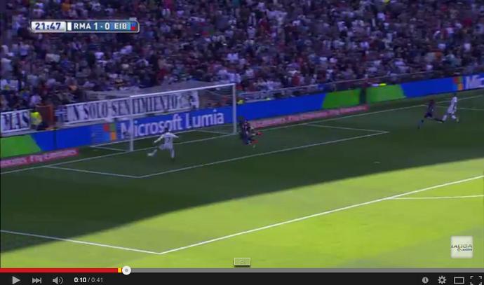Frame - gol perdido Cristiano Ronaldo