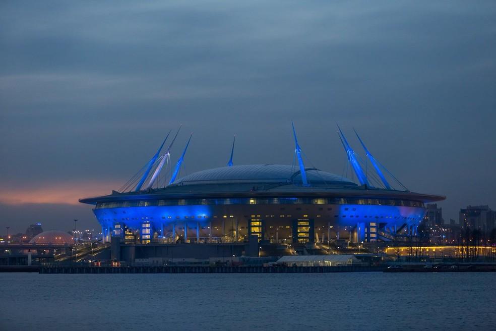 Arena Zenit será o palco da abertura e da final da Copa das Confederações (Foto: Reprodução Twitter)