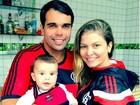 Bárbara Borges comemora 5 meses de filho e 119 anos de Flamengo