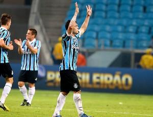 Kleber gol Grêmio jogo São Paulo (Foto: Lucas Uebel / Site Oficial do Grêmio)