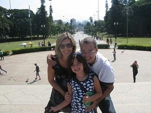 Marco Antônio trouxe toda a família para o passeio. (Foto: Leonardo Neiva/G1)