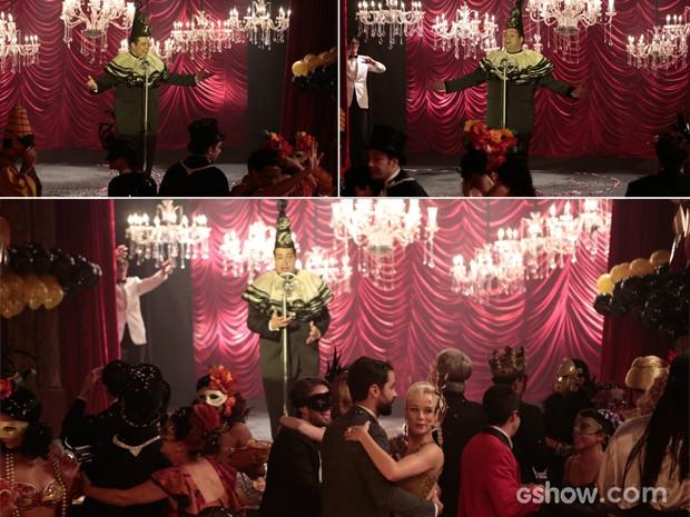 Odilon se apresenta, enquanto convidados dançam (Foto: Felipe Monteiro/TV Globo)