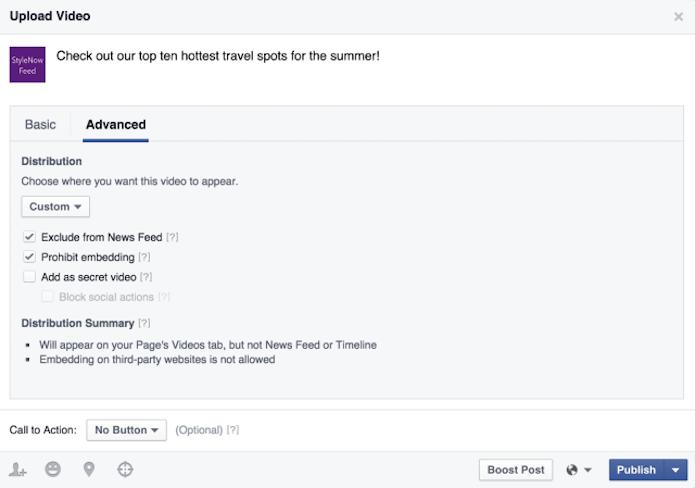 Filtro de vídeos do Facebook permite bloquear compartilhamento no feed e embed em sites (Foto: Reprodução/Facebook)