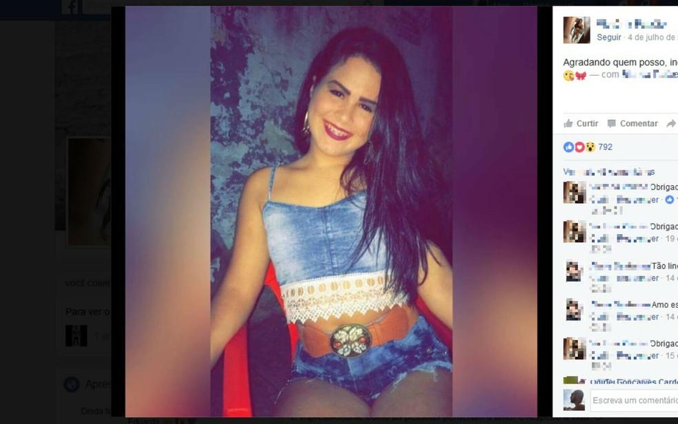Vitória Paixão foi morta na porta de casa e atingida por arma de uso restrito da polícia  (Foto: Reprodução/Facebook)
