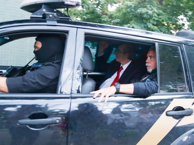 Eduardo Cunha chega para depor para Sérgio Moro em Curitiba (Foto: Rodolfo Buhrer/FotoArena/Estadão Conteúdo)
