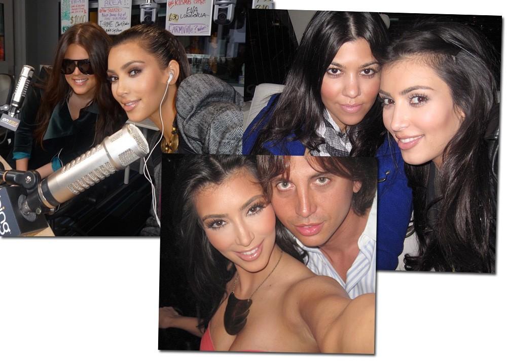 Flashback selfie: com as irmãs Khloe e Kourtney e o BFF Jonathan Cheban (Foto: Reprodução/Instagram)