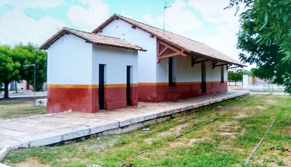A estação foi alvo dos cangaceiros no povoado de São Sebastião (Foto: Reprodução/Inter TV Cabugi)
