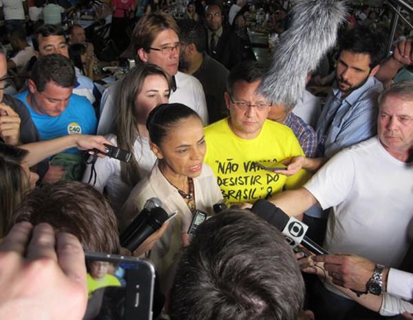 A candidata do PSB, Marina Silva, em vista à feira nordestina em São Paulo (Foto: Fábio Tito / G1)