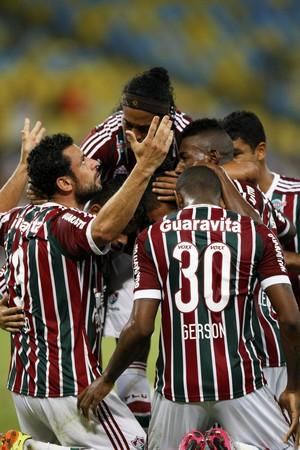 Fred comemoração Fluminense x Goiás (Foto: André Durão)