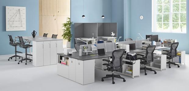 Linha para escritório é versátil e adaptável para o ambiente corporativo (Foto: Divulgação/ Herman Miller)