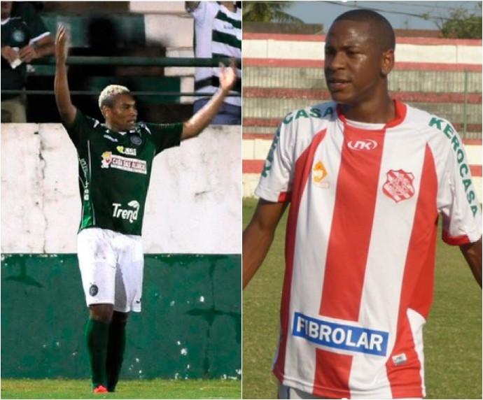 Primo de Neymar, Rhaudeman Santiago, e Caça-Rato são os reforços do Duque (Foto: Arte/ GloboEsporte.com)