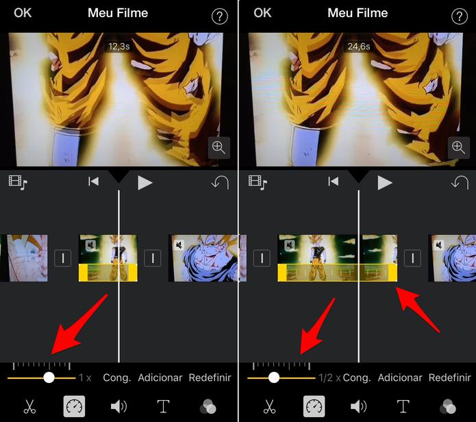 Aumente ou diminua a velocidade do vídeo (Foto: Reprodução/Lucas Mendes)