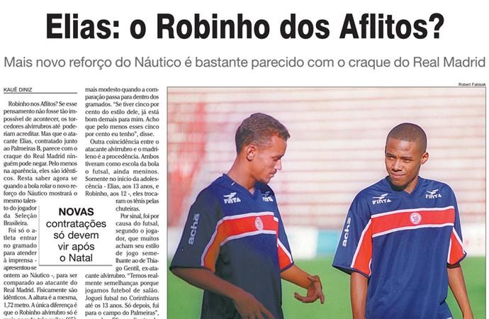 Elias, o Robinho dos Aflitos (Foto: Reprodução Folha de Pernambuco)