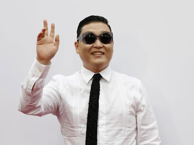 Psy na premiere do filme 'Red 2', em Los Angeles, em 11 de julho de 2013 (Foto: Reuters/Mario Anzuoni)