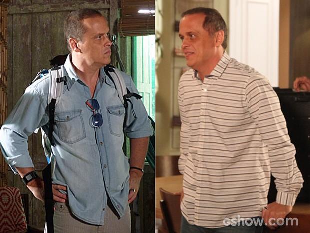 Flávio caprichava na escolha das suas camisas (Foto: Além do Horizonte / TV Globo)