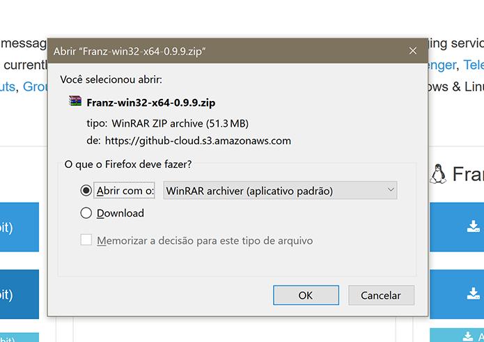 Franz tem versões de 32 bits e de 64 bits para Windows, Linux e Mac (Foto: Reprodução/Elson de Souza)