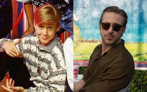 Ryan Gosling em 'The Mickey Mouse Club' (1993) e 'La La Land: Cantando Estações' (2016) (Foto: Divulgação)