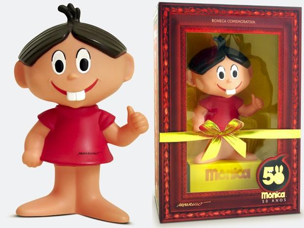 Boneca da Mônica 'retrô', um dos produtos comemorativos de 50 anos da personagens a ser lançado em 2013 (Foto: Divulgação / Mauricio de Sousa Produções)