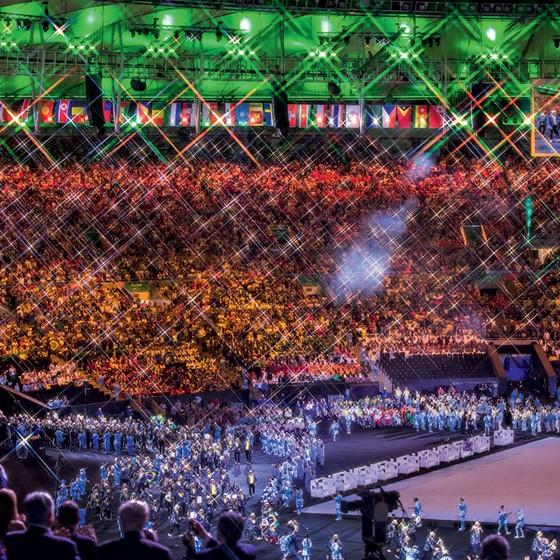 Festa de abertura da Paralimpíada do Rio.Márcia ajudou a abrir o caminho para a profissionalização (Foto: Jens Buettner/dpa/AFP)