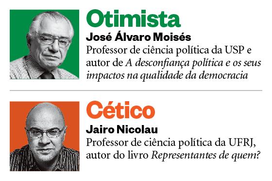 José Álvaro Moisés e Jairo Nicolau (Foto: Época )