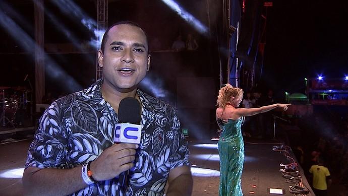 Joelma foi uma das atrações do Forrozão (Foto: TV Sergipe)