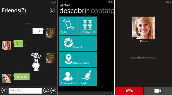 WeChat é um mensageiro para conversas com amigos e também desconhecidos que estão por perto (Foto: Divulgação/Windows Phone Store)