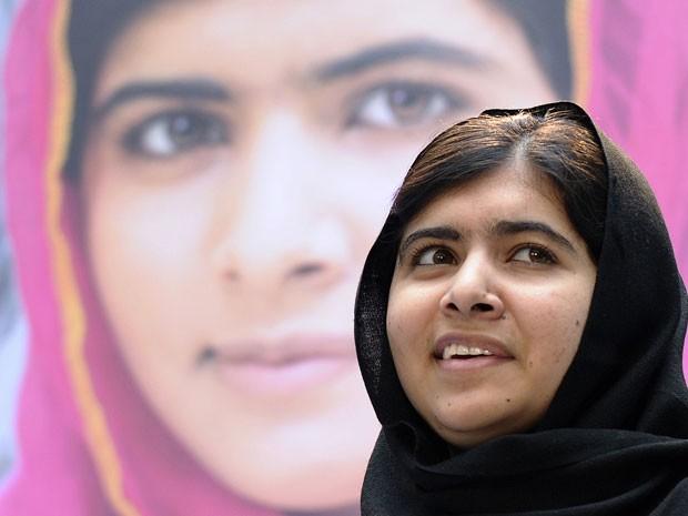 Malala Yousafzai ganhou o Prêmio Nobel da Paz aos 17 anos (Foto: Susan Walsh/AP)