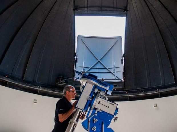 Observatório do Centro de Ciências da UFJF (Foto: Luiz Carlos Lima/UFJF)