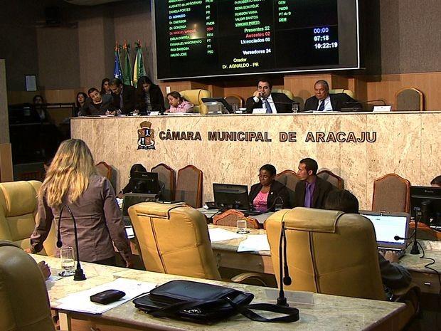 Vereadores voltam novo valor da tarifa de ônibus em Aracaju (Foto: Reprodução/TV Sergipe)