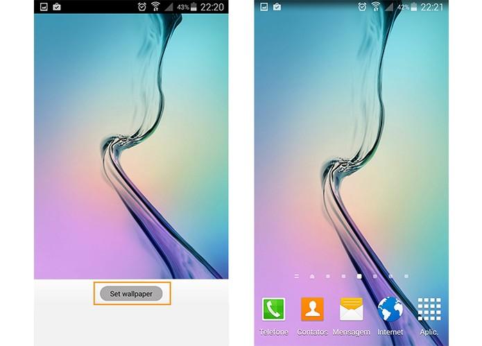 Aplique o wallpaper no seu Android (Foto: Reprodução/Barbara Mannara)