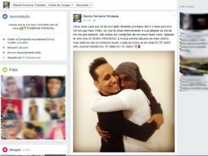 Postagem do vocalista Chiclete Ferreira pretsa homenagem ao dançarino (Foto: Reprodução/Facebook)