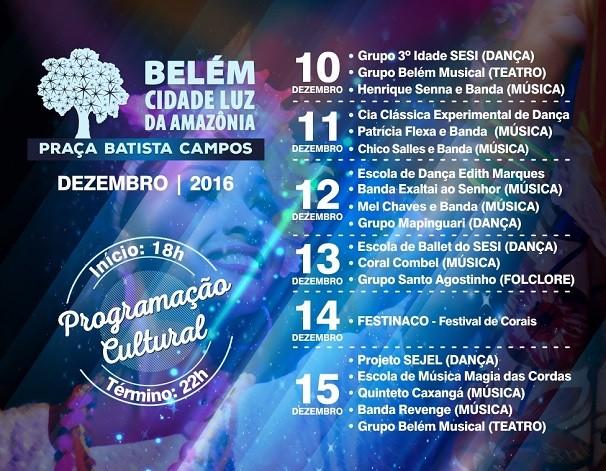 Programação Cultural marca o mês de dezembro em Belém (Foto: divulgação)