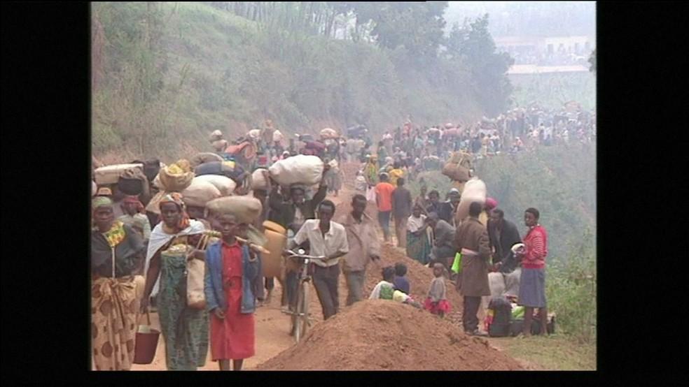 Genocídios de Ruanda (Foto: Reprodução GloboNews)