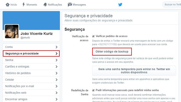 Twitter gera código permanente para acesso em emergências (Foto: Reprodução/Twitter)