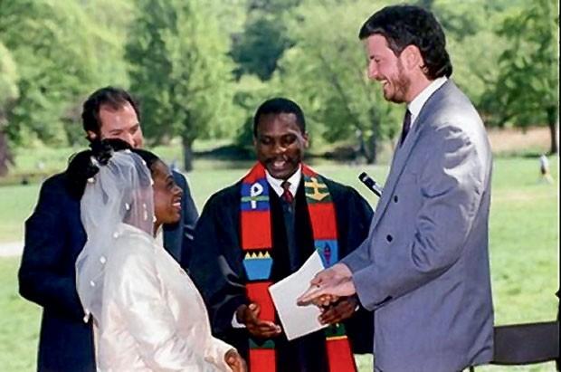 No dia do casamento com de Blasio (Foto: Mario Tama (Getty Images))