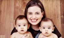 Mulher dá à luz gêmeos mesmo com mioma de 15 cm no útero (Larissa Wurthmann/ arquivo pessoal)