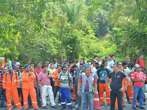 Paralisação segue programação nacional (Foto: Sindicato dos Petroleiros/Divulgação)