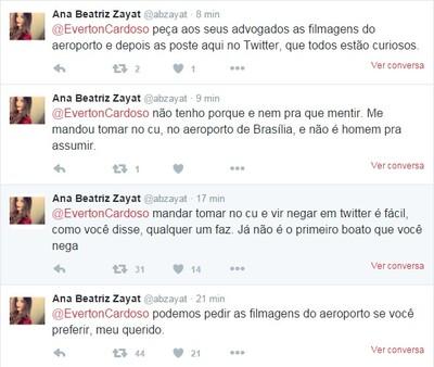 Ana Beatriz Zayat twitter Everton (Foto: Reprodução)