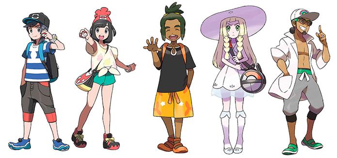 Personagens são destaque em Pokémon Sun e Moon (Foto: Montagem/Caio Fagundes)
