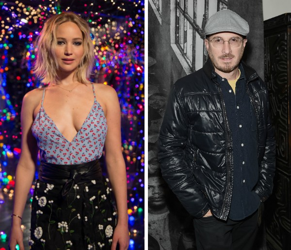 A atriz Jennifer Lawrence e o cineasta Darren Aronofsky (Foto: Getty Images)
