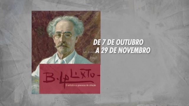Exposição Benedito Calixto (Foto: Reprodução/TV Tribuna)