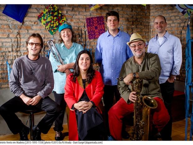 Quinteto Vento em Madeiro conta com participação especial da cantora Mônica Salmaso  (Foto: Dani Gurgel )