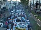 Manifestantes protestam em Araxá contra reforma da Previdência